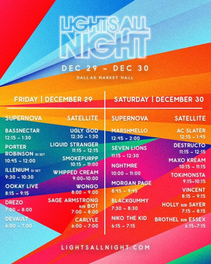 Lights All Night Line Up!