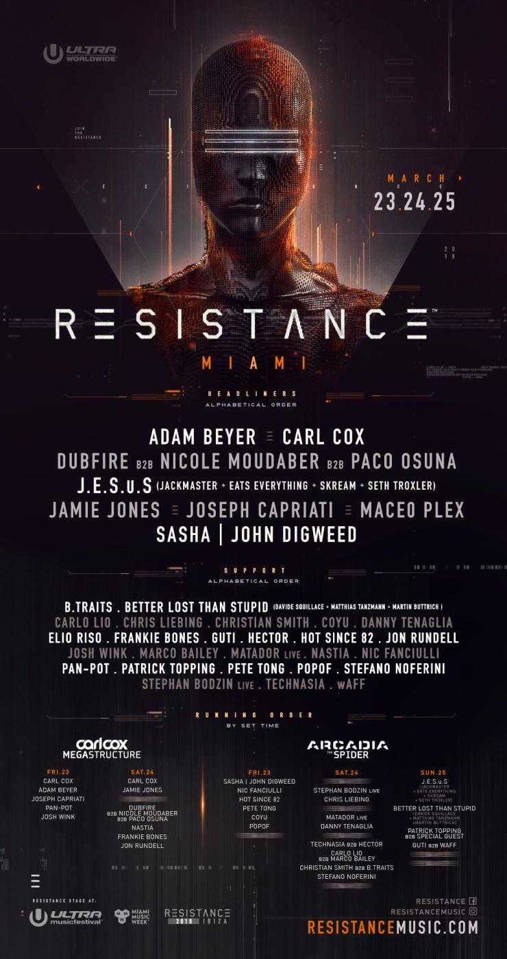 resistance miami - ultra music festival