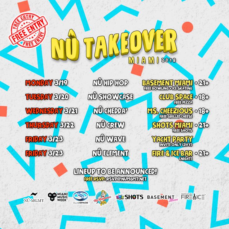 Nu Takeover Miami Schedule