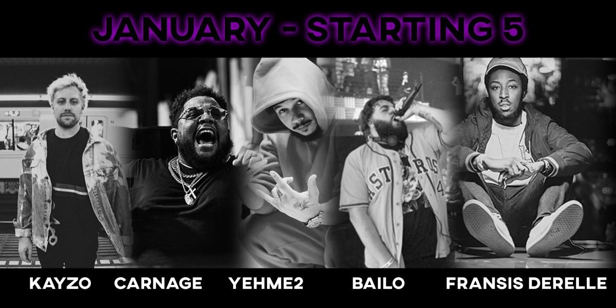 January's STARTING 5