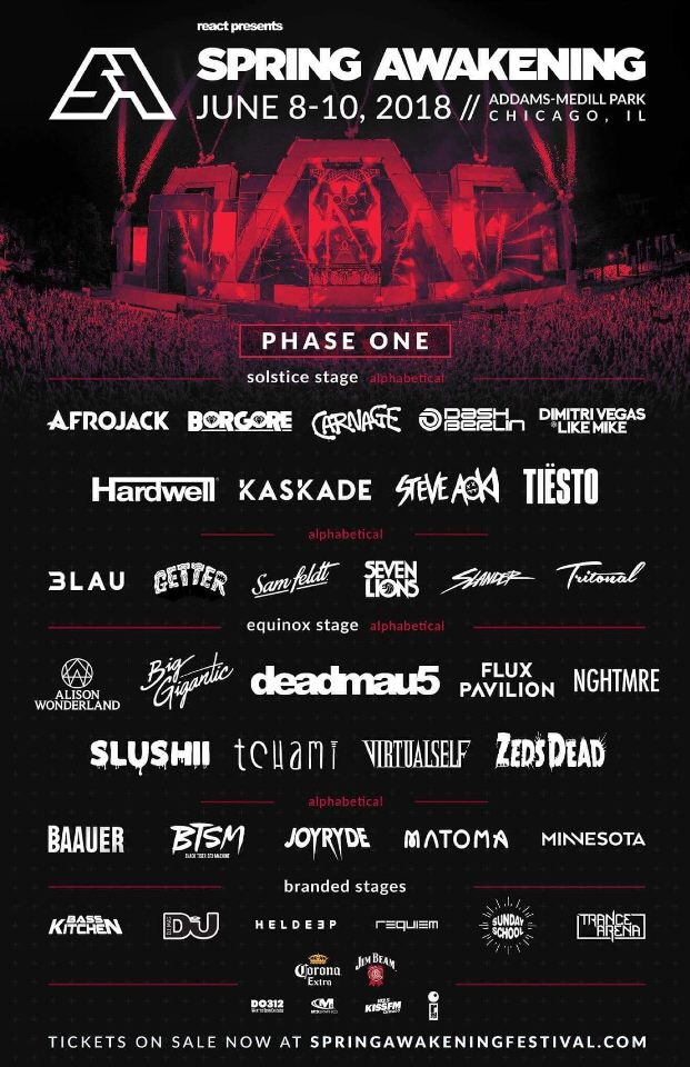 Spring Awakening Phase One Line Up