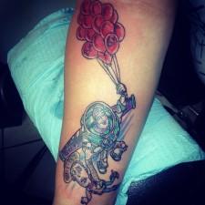 Cici's tribute tattoo